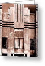Art Deco In Sepia Greeting Card