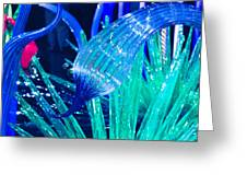 Art Glass In Turquoise Greeting Card