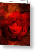 Art Rose Greeting Card by Martin  Fry