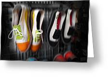 Art Shoes Greeting Card