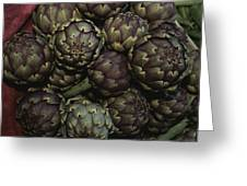 Artichokes At A Market In Provence Greeting Card
