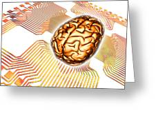 Artificial Intelligence, Computer Artwork Greeting Card
