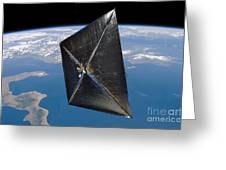 Artist Concept Of Nanosail-d In Space Greeting Card