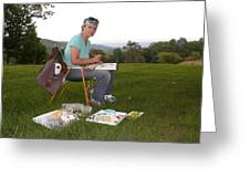 Artist In Action En Plein Air Greeting Card