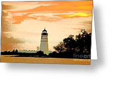 Artistic Madisonville Lighthouse Greeting Card