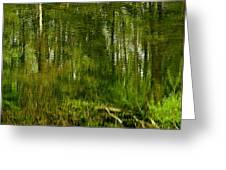 Artistic Water Reflections Greeting Card