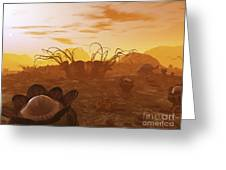 Artists Concept Of Animal And Plant Greeting Card by Walter Myers