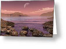 Artists Concept Of Archean Greeting Card