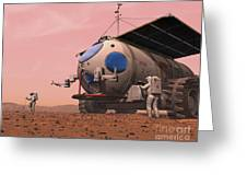 Artists Concept Of How A Martian Greeting Card