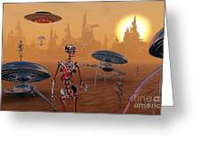 Artists Concept Of Life On Mars Long Greeting Card