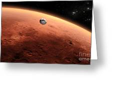 Artists Concept Of Nasas Mars Science Greeting Card