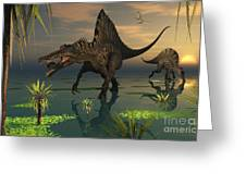 Artists Concept Of Spinosaurus Greeting Card