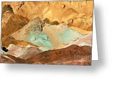 Artists Palette Death Valley Greeting Card