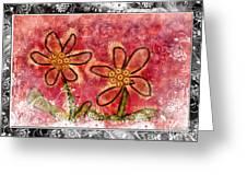 Artsy Daisies Greeting Card