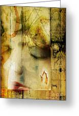 Artsy Girl Greeting Card by David Taylor