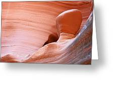Artwork In Progress - Antelope Canyon Az Greeting Card by Christine Till