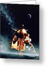 Artwork Of Apollo 11 Lunar Module On The Moon Greeting Card