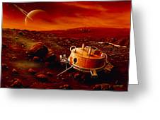 Artwork Of Huygens Probe On The Surface Of Titan Greeting Card