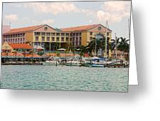 Aruba Water Front Greeting Card