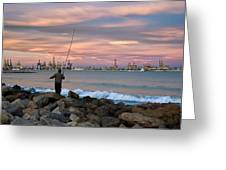 As He Caught His Dinner .... Greeting Card