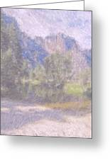 As If Monet Painted Yosemite Greeting Card