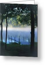 As The Lake Awakens Greeting Card