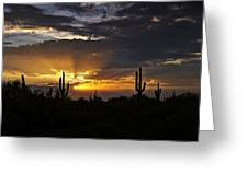 As The Sun Sets In The West  Greeting Card