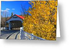 Ashuelot Covered Bridge And Forsythia Greeting Card