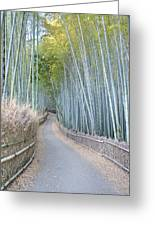 Asia Japan Kyoto Arashiyama Sagano Greeting Card by Rob Tilley