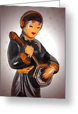 Asian Beauty Minstrel Greeting Card