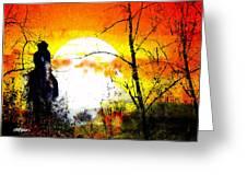Asleep In The Saddle Greeting Card