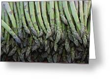 Asparagus At A Market In Provence Greeting Card