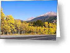 Aspen Highway7 Greeting Card