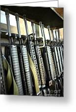 Assault Rifles Stand Ready Greeting Card