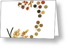 Assortment Of Spices Greeting Card
