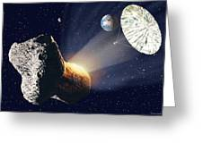 Asteroid Deflection Greeting Card
