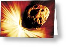 Asteroid Deflection, Stand-off Explosion Greeting Card