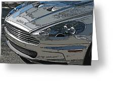 Aston Martin Db S Coupe Nose Detail Greeting Card