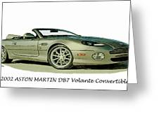 Aston Martin Greeting Card