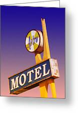 Astro Motel Retro Sign Greeting Card