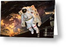 Astronaut In A Space Suit Greeting Card