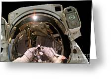 Astronaut Takes A Self-portrat Greeting Card
