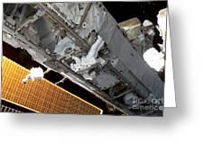 Astronaut Traverses Greeting Card