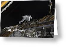 Astronaut Working On The International Greeting Card