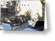 Astronauts Participate Greeting Card