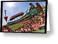 At And T The Stadium Greeting Card
