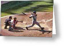 At Bat Greeting Card