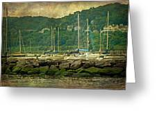 At Home In The Harbor - Atlantic Highlands  Nj Greeting Card