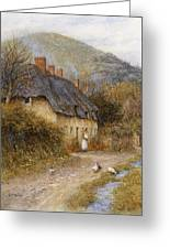 At Symondsbury Near Bridport Dorset Greeting Card