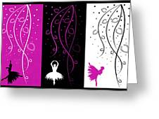 At The Ballet Triptych 2 Greeting Card